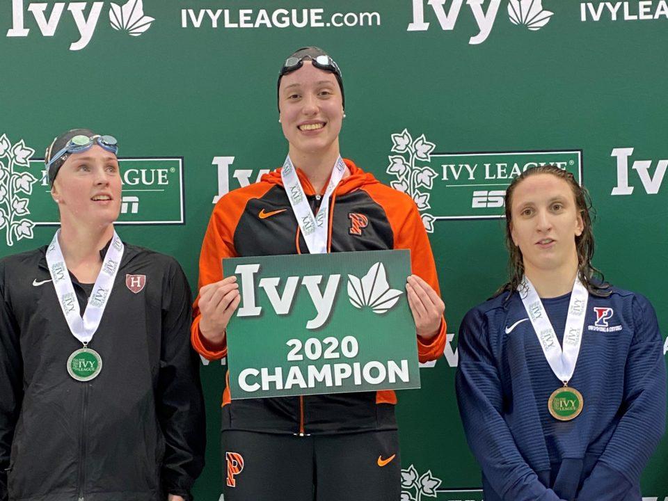 Princeton Freshman Ellie Marquardt Destroys Ivy Meet Record in 500 Fr: 4:36.37