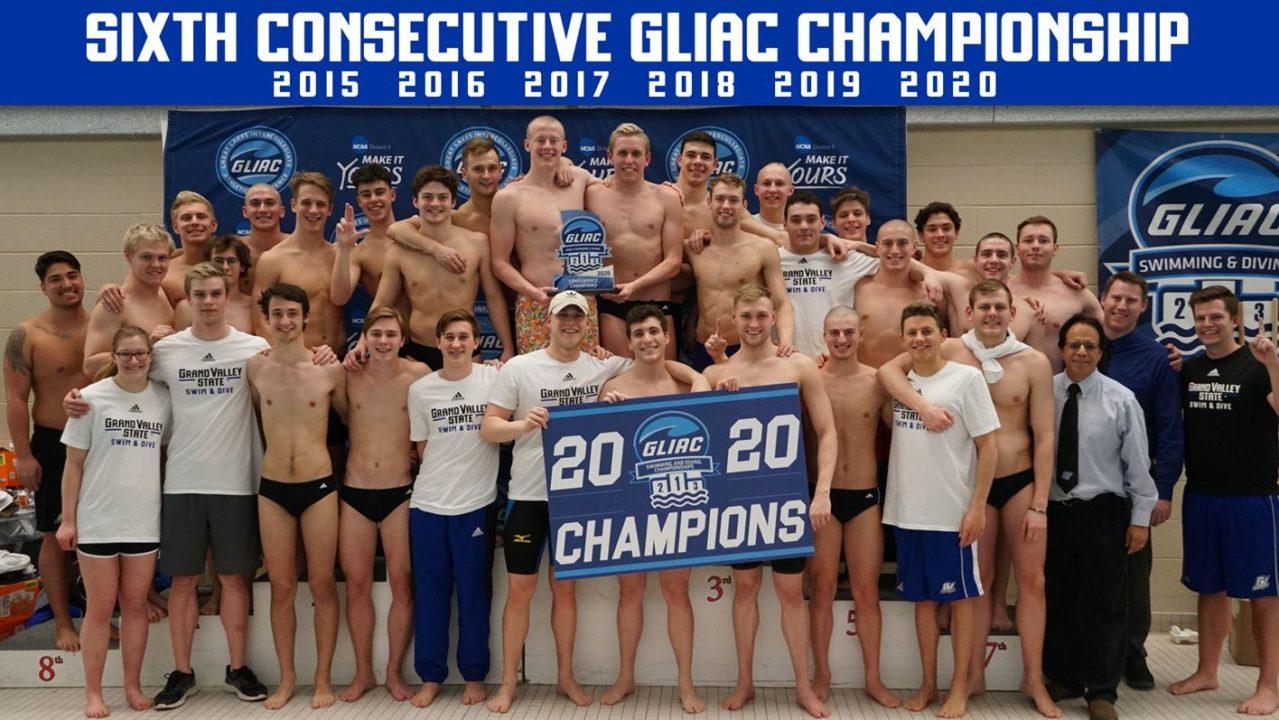 GVSU Men Win Sixth Straight GLIAC Title, NMU Women Claim First Since 2002