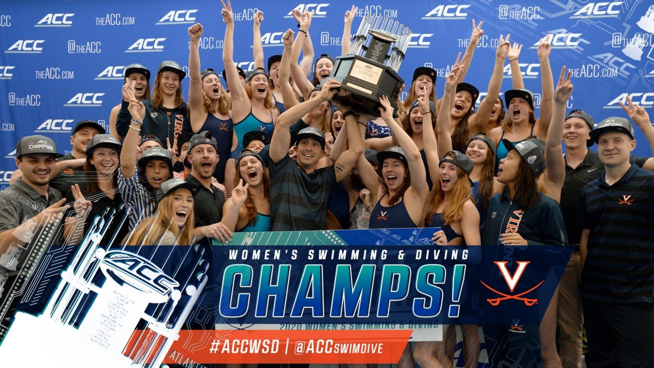 Virginia Ties North Carolina with 16th ACC Women's Swimming & Diving Title