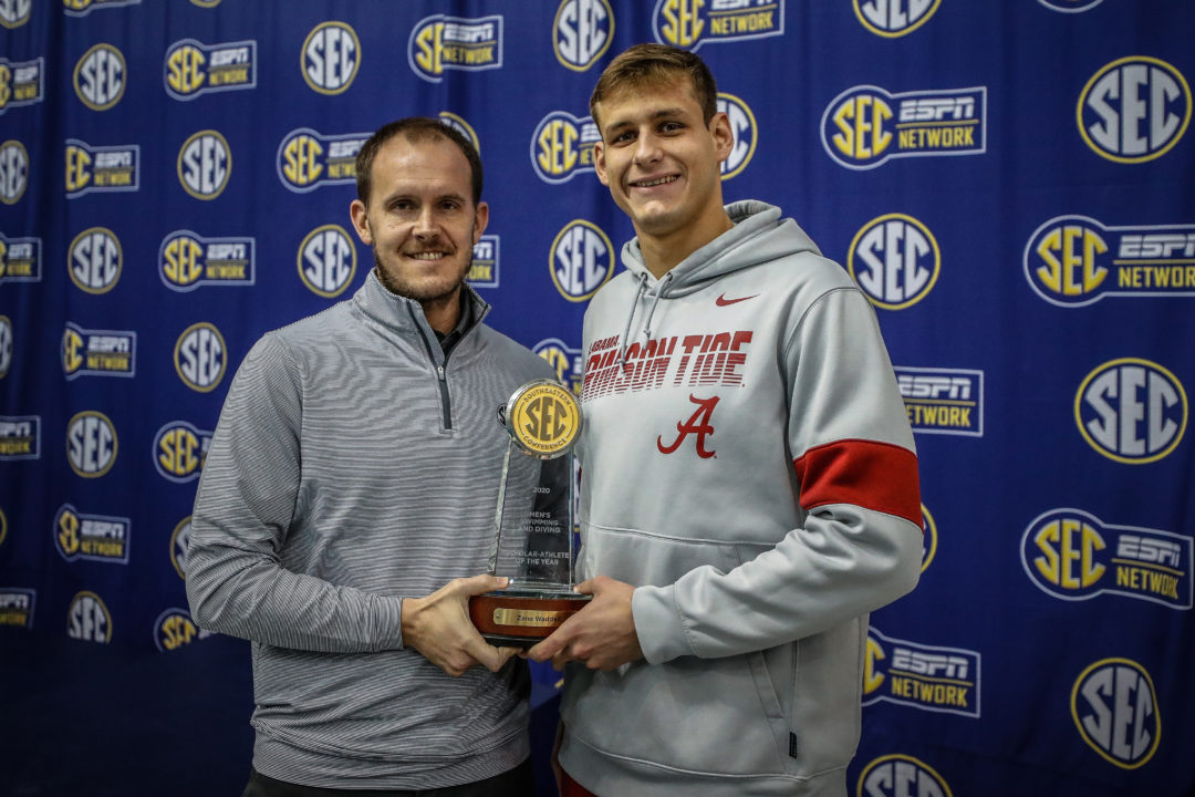 Zane Waddell Named SEC Male Swimming and Diving Scholar-Athlete of the Year