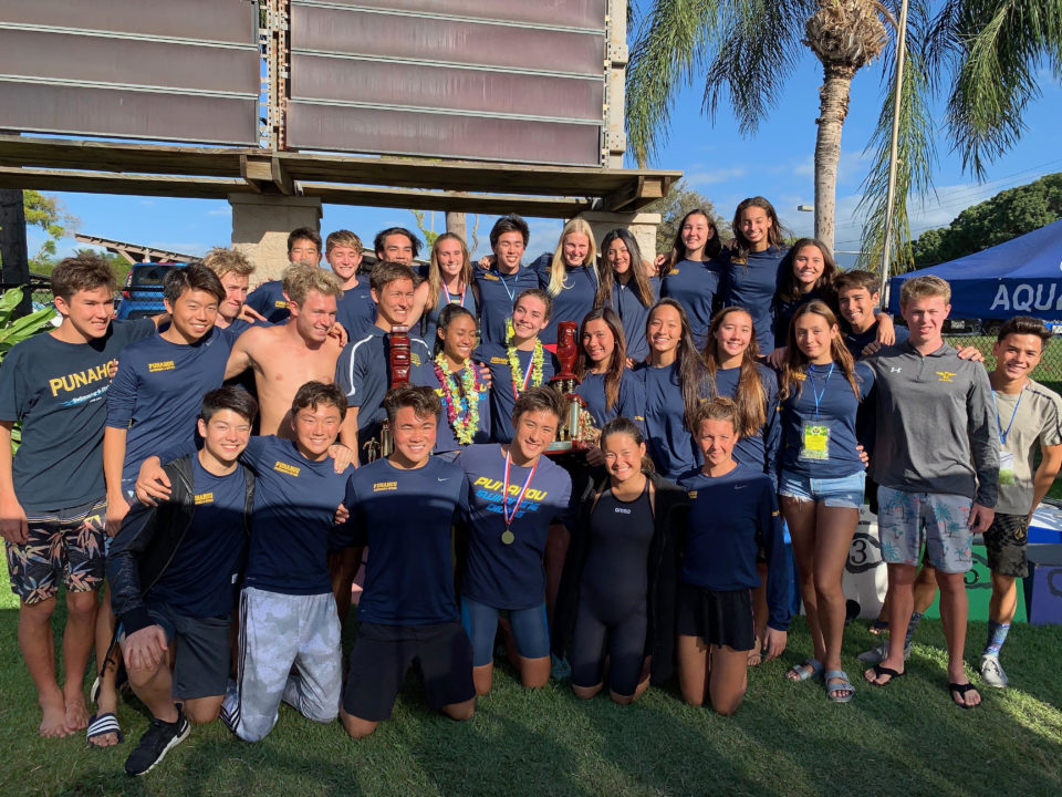 Barthel Breaks 11-Year-Old State Record; Punahou Sweeps Hawaii States