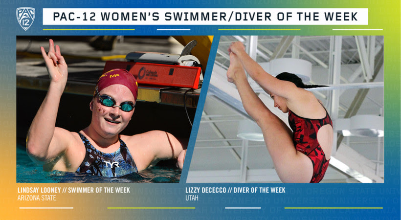 ASU's Looney, Utah's Dececco Named Pac-12 Women's Swimmer and Diver of the Week
