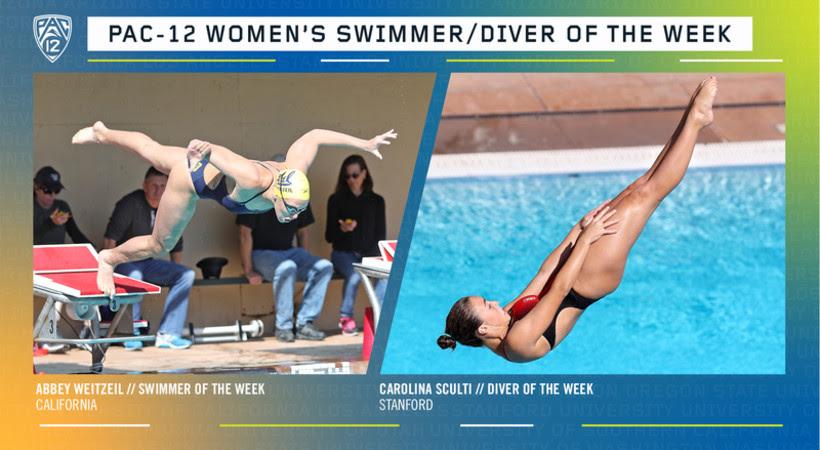 Weitzeil, Sculti Earn Pac-12 Women's Swimmer & Diver of the Week