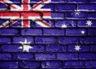 Australia Aussie Flag Stock