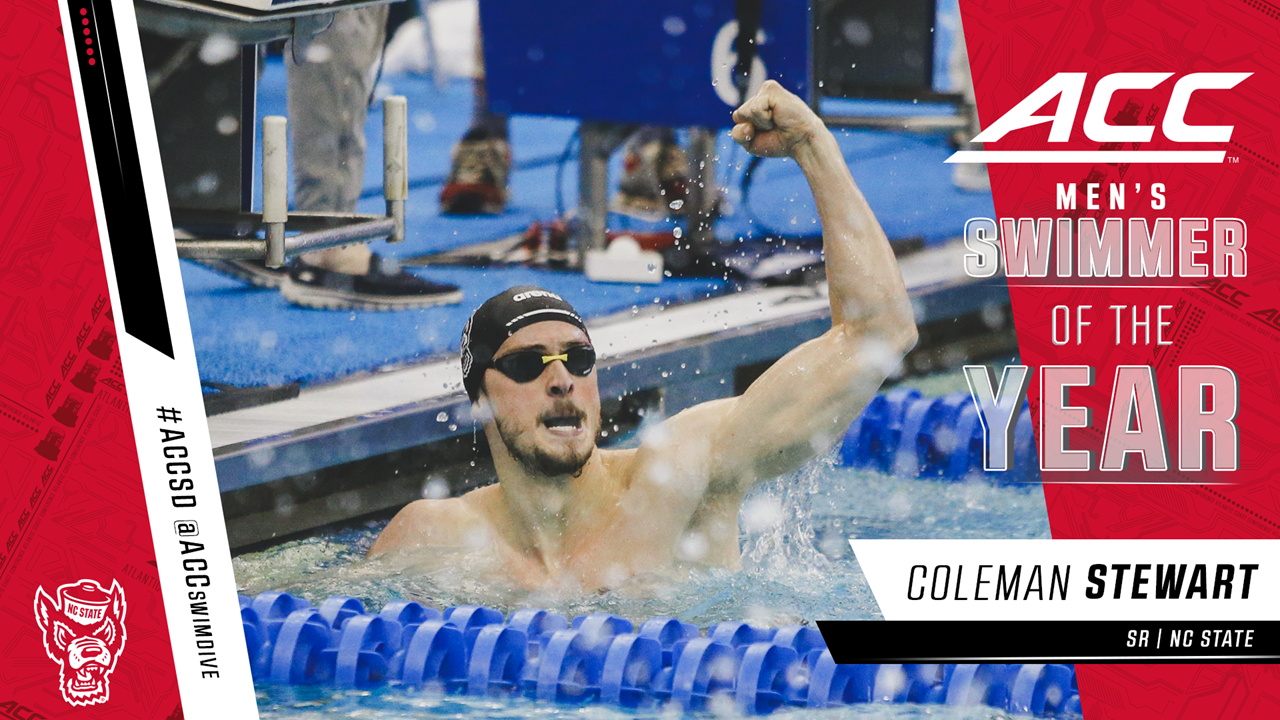 NC State's Coleman Stewart, UVA's Paige Madden Named ACC Swimmers of the Year