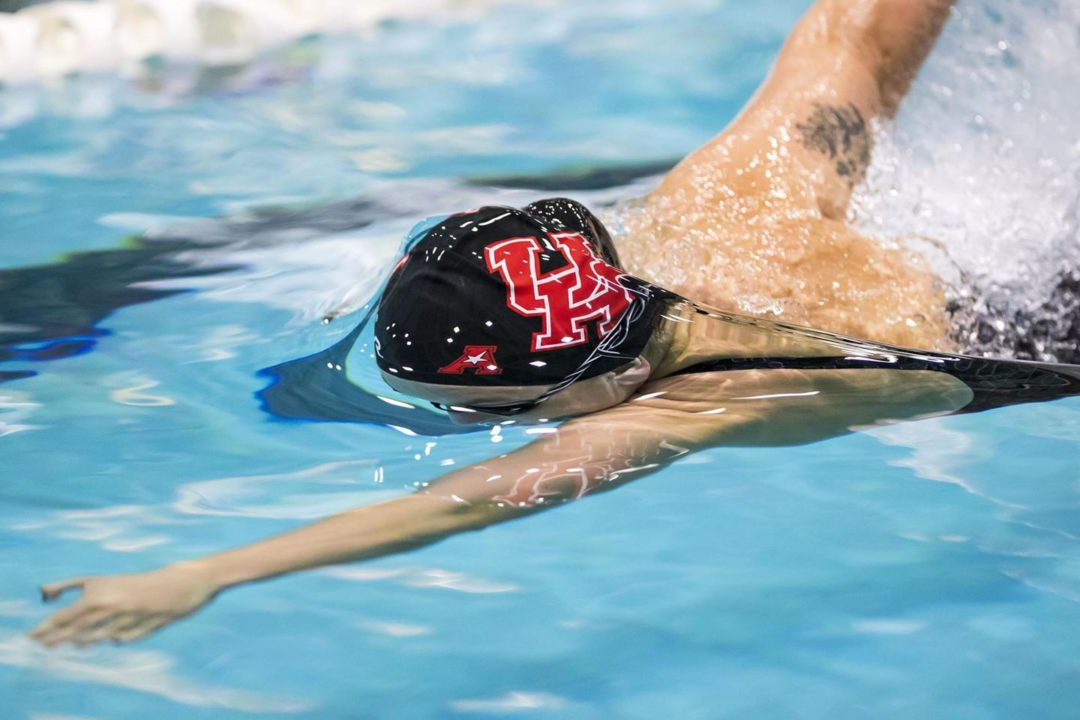 Houston's Mykenzie Leehy Unleashes 21.75 50 FR Split on Day 1 of AAC Champs