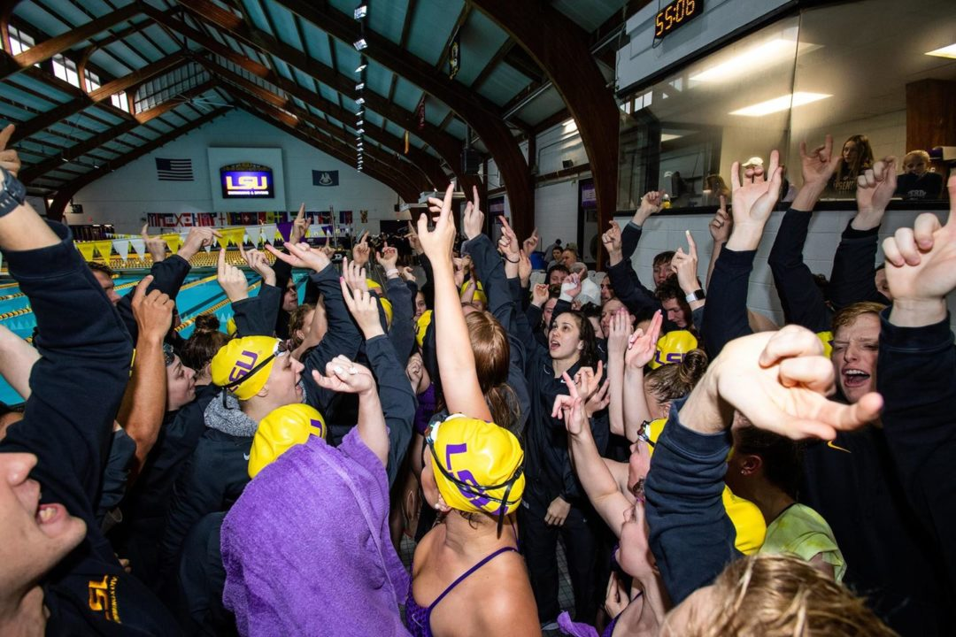 Curry, Robinson Headline LSU Swim & Dive Awards Presented Via Zoom