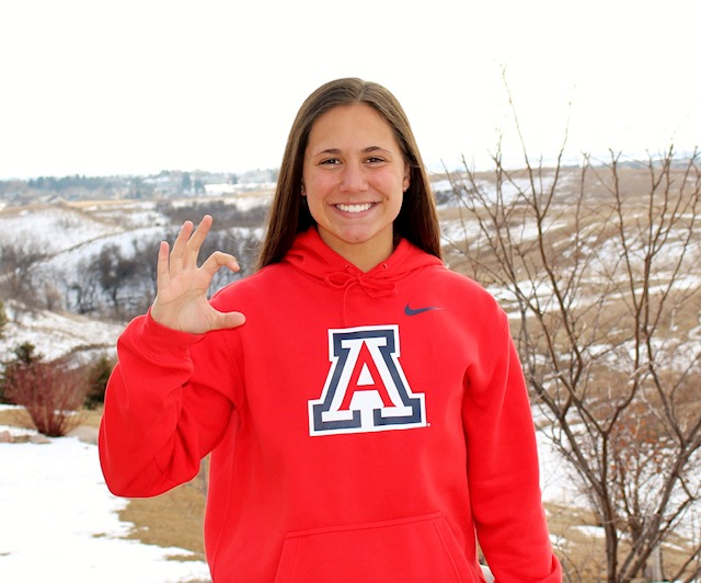 Lexi Duchsherer, Who Swam Jr. Nationals with a Broken Leg, Commits to Arizona