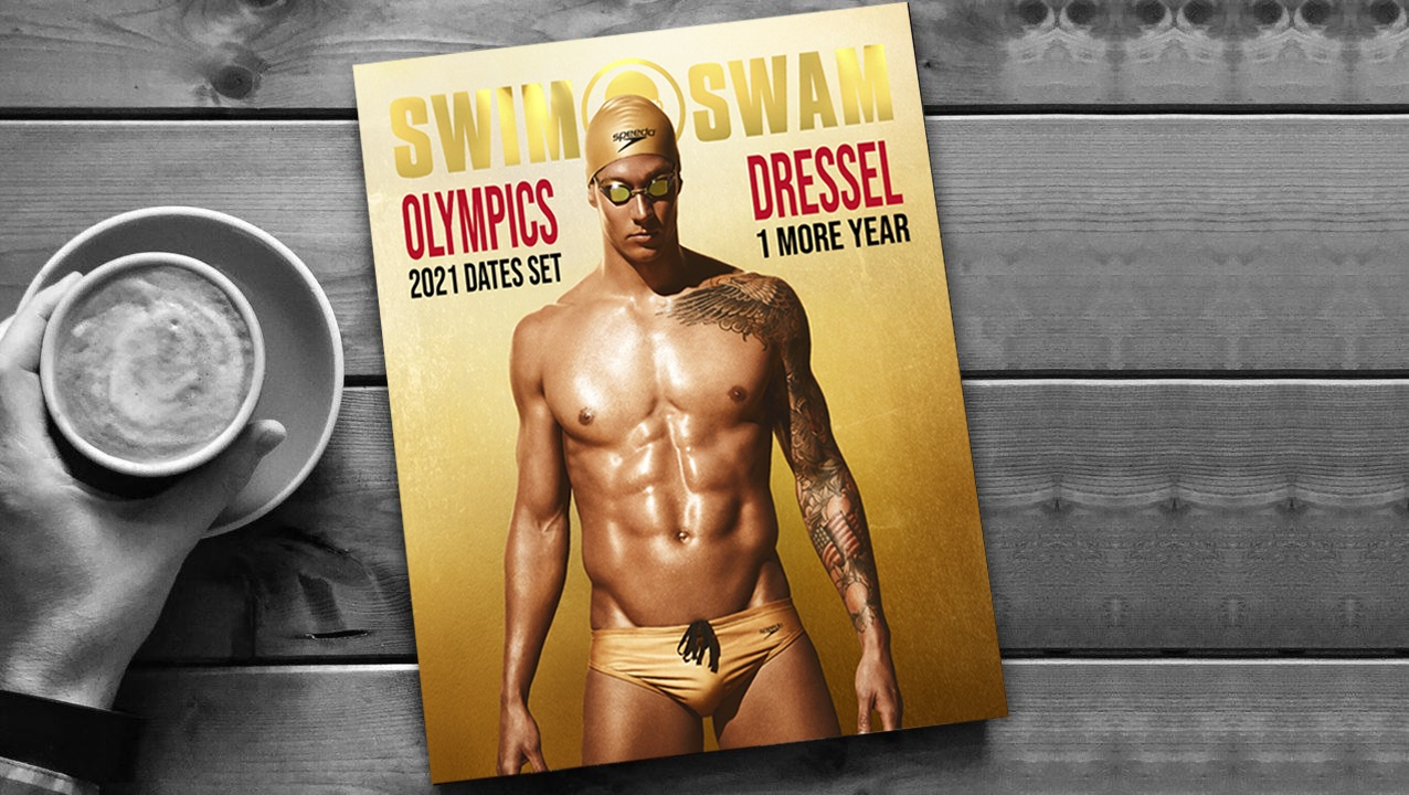 How to Get The Caeleb Dressel Olympic Gold Cover SwimSwam Magazine Issue