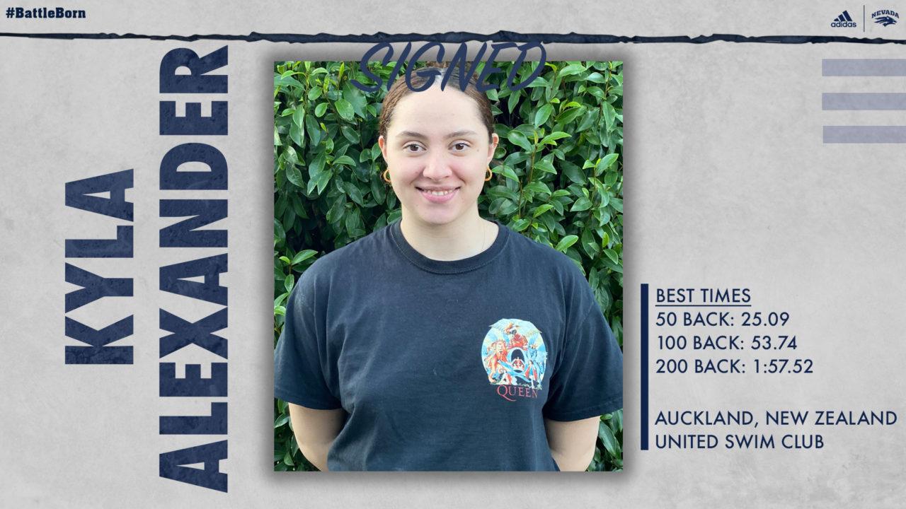 53-Second Backstroker Kyla Alexander Transfers from Louisville to Nevada