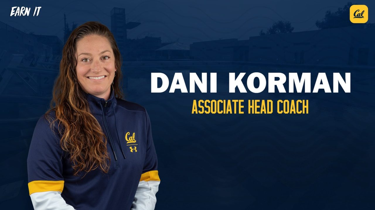 Dani Korman Promoted to Associate Head Coach Under Teri McKeever at Cal