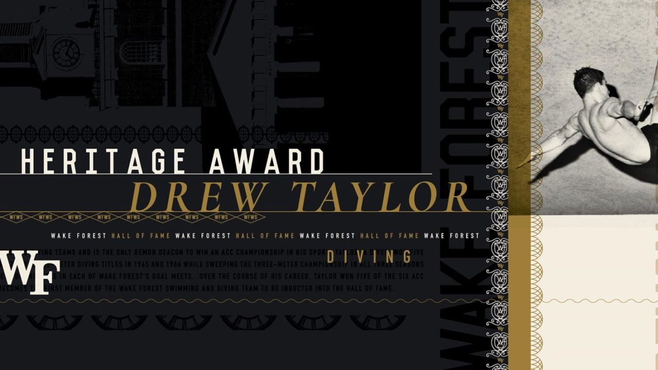 Drew Taylor Inducted Into Wake Forest Sports Hall of Fame Class Of 2020