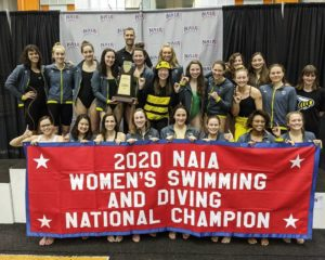 Defending NAIA Women's Swimming & Diving Champs SCAD Cancel 2020-2021 Season