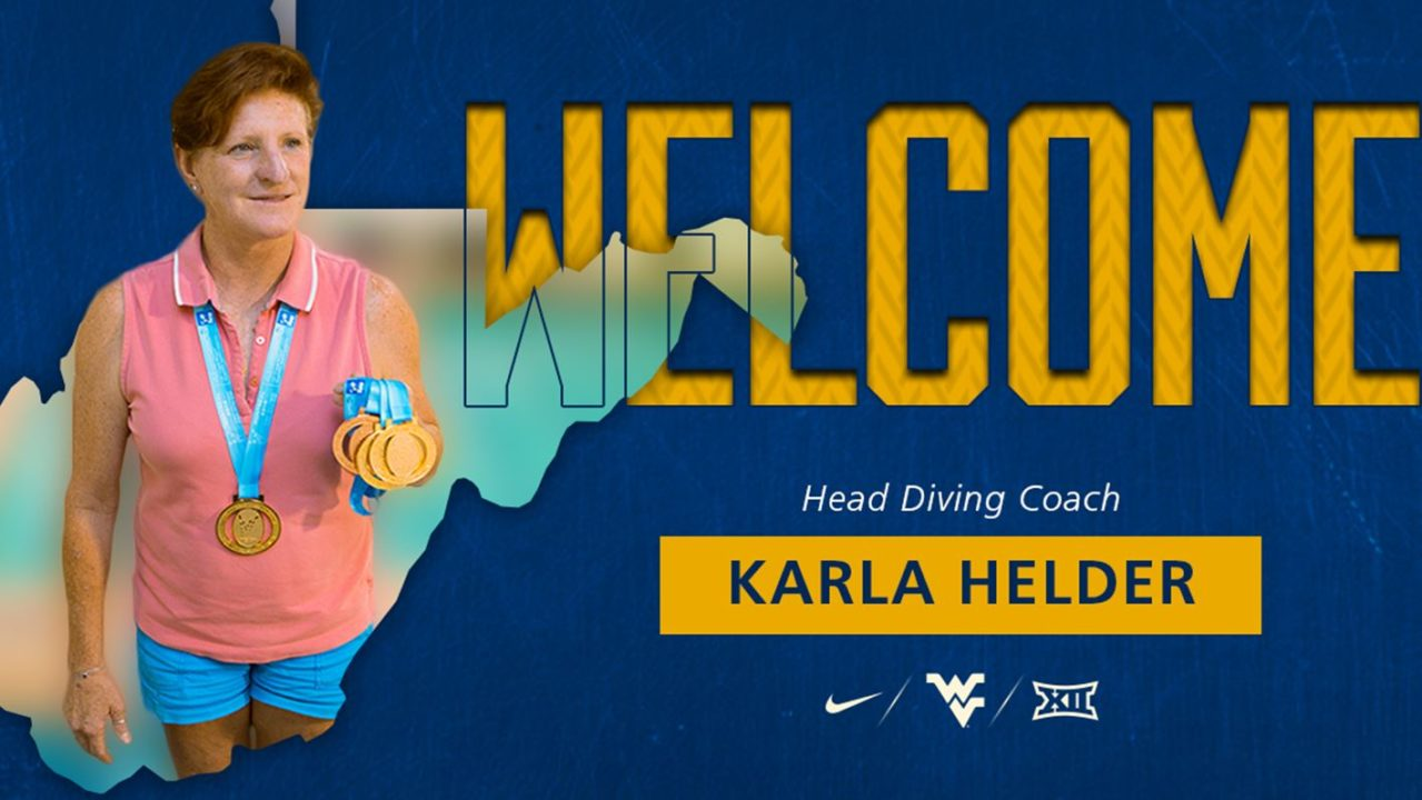 West Virginia Hires Karla Helder as New Head Diving Coach