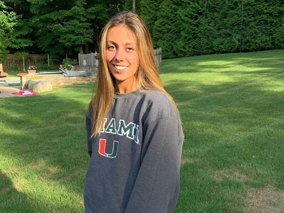 Breaststroker Emily Grasso Verbally Commits to Miami Hurricanes