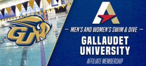 Gallaudet To Join Atlantic East As Associate Member In Swimming & Diving