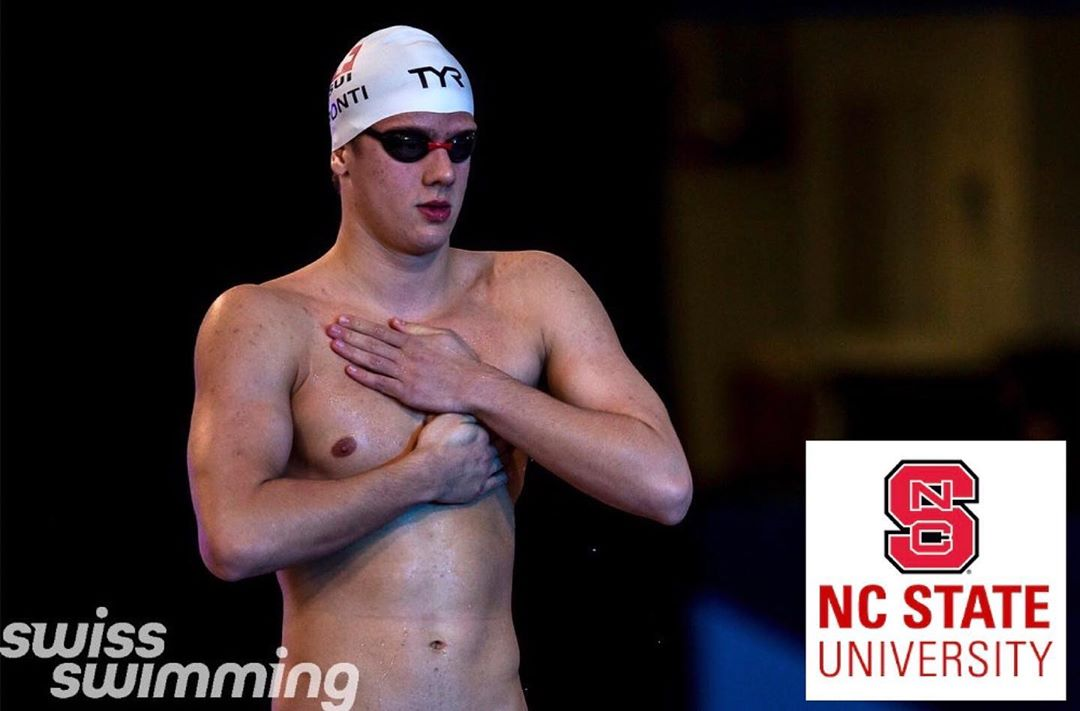 Euro Junior Champ and Swiss Record-Holder Noè Ponti Verbals to NC State