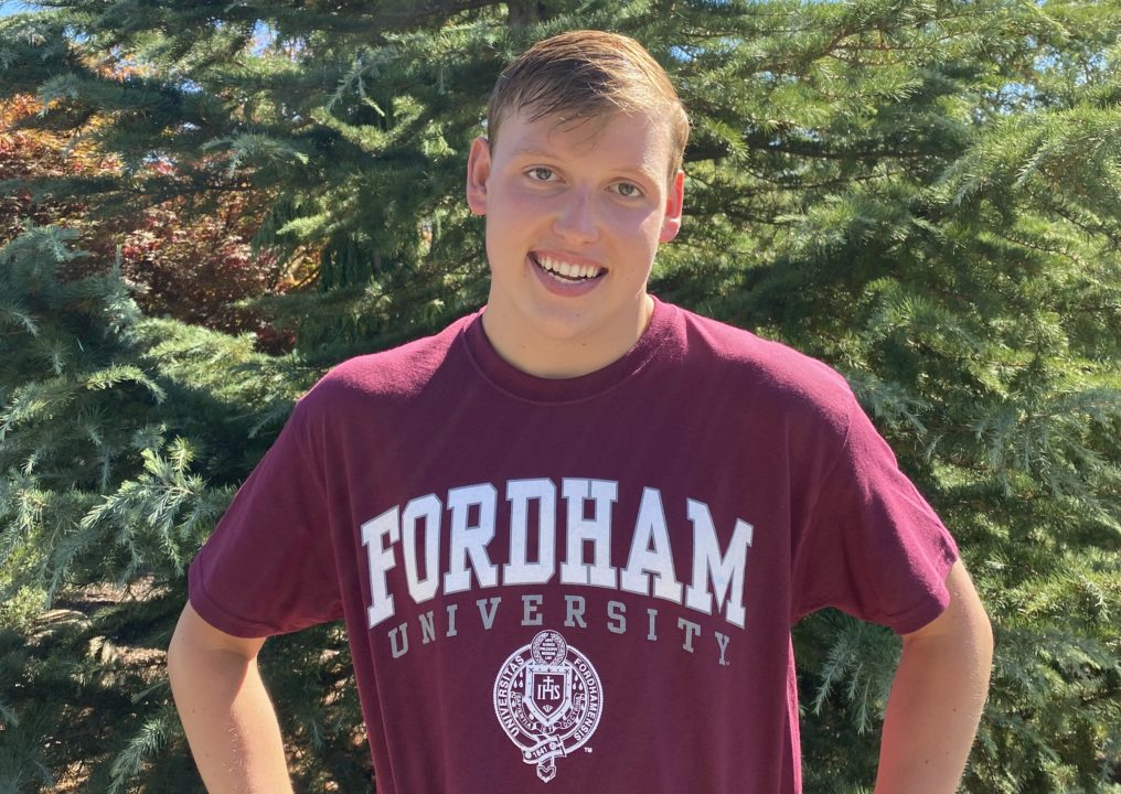 Fordham University Adds Distance Freestyler Evan Trout to Roster for 2021