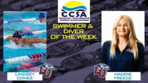 Liberty's Cohee, Freece Snag CCSA Swimmer and Diver of the Week Honors