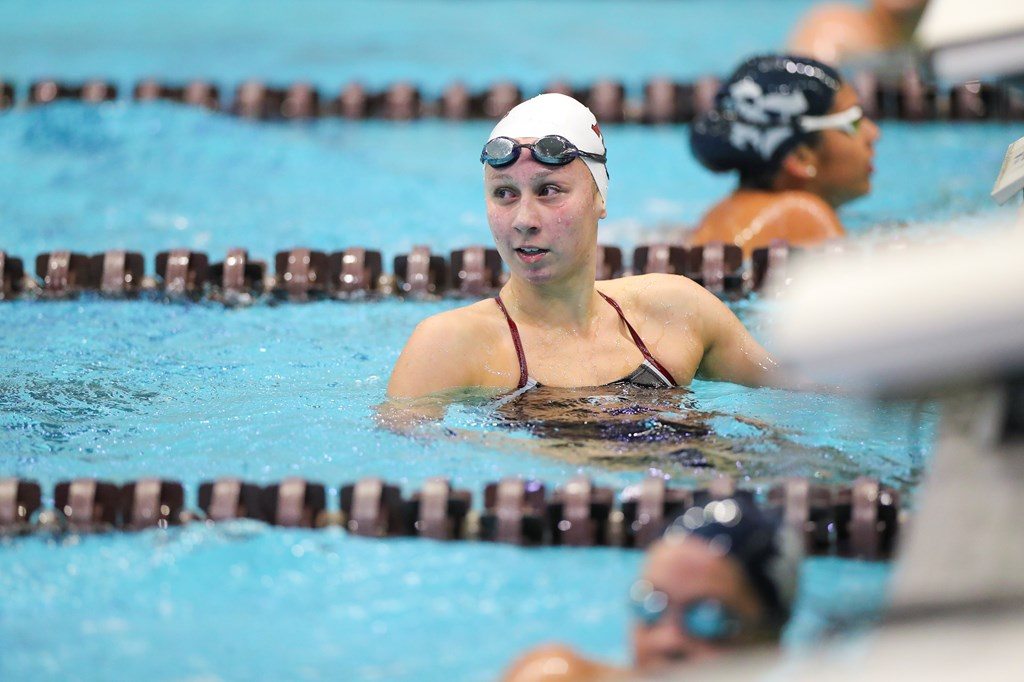Freshman Chloe Stepanek Helps Texas A&M Roll Past Houston in Women's Dual