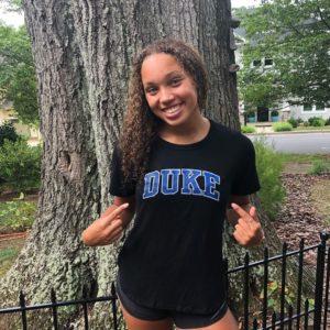 North Carolina 4A Relay Champion Amaya Hanley Verbals to Duke (2021)