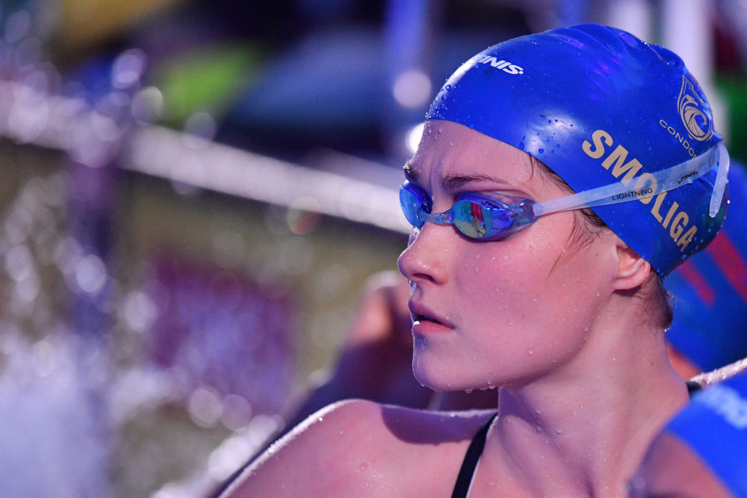 Olivia Smoliga Breaks American Record in Women's 50 SCM Backstroke