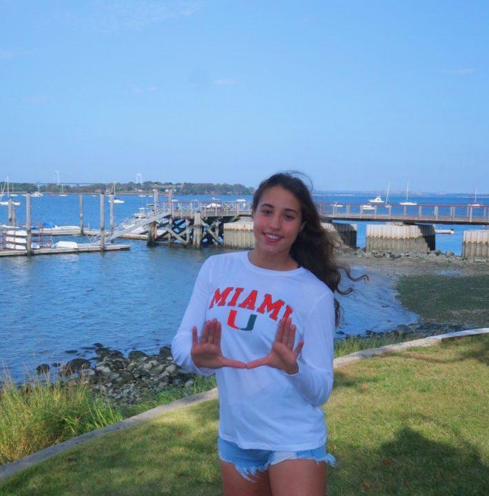Ariana Brattoli Becomes 2nd Empire Swimming Breaststroker to Commit to Miami