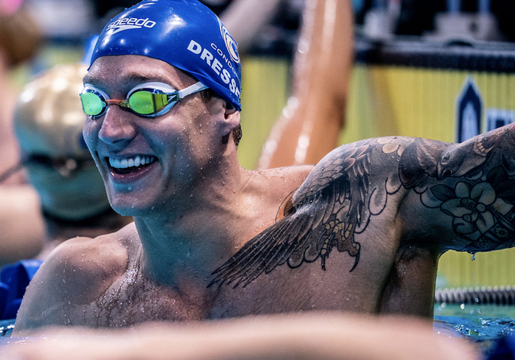 Caeleb Dressel Clips Own American Record in 100 SCM Free – 45.18