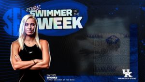 Brooks Named SEC Women's Swimmer of the Week; Casas, Magahey Split Men's Honors