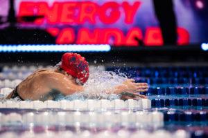 Pilato Lowers Own World Junior Record, Ties King's Season-Leading 50 Breast