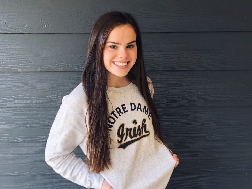Carmel Sprinter Gretchen Lueking (2022) Announces Verbal to Notre Dame