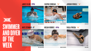 Corbeau, Silins, Steward & Morris Named Big 12 Swimmers of the Week