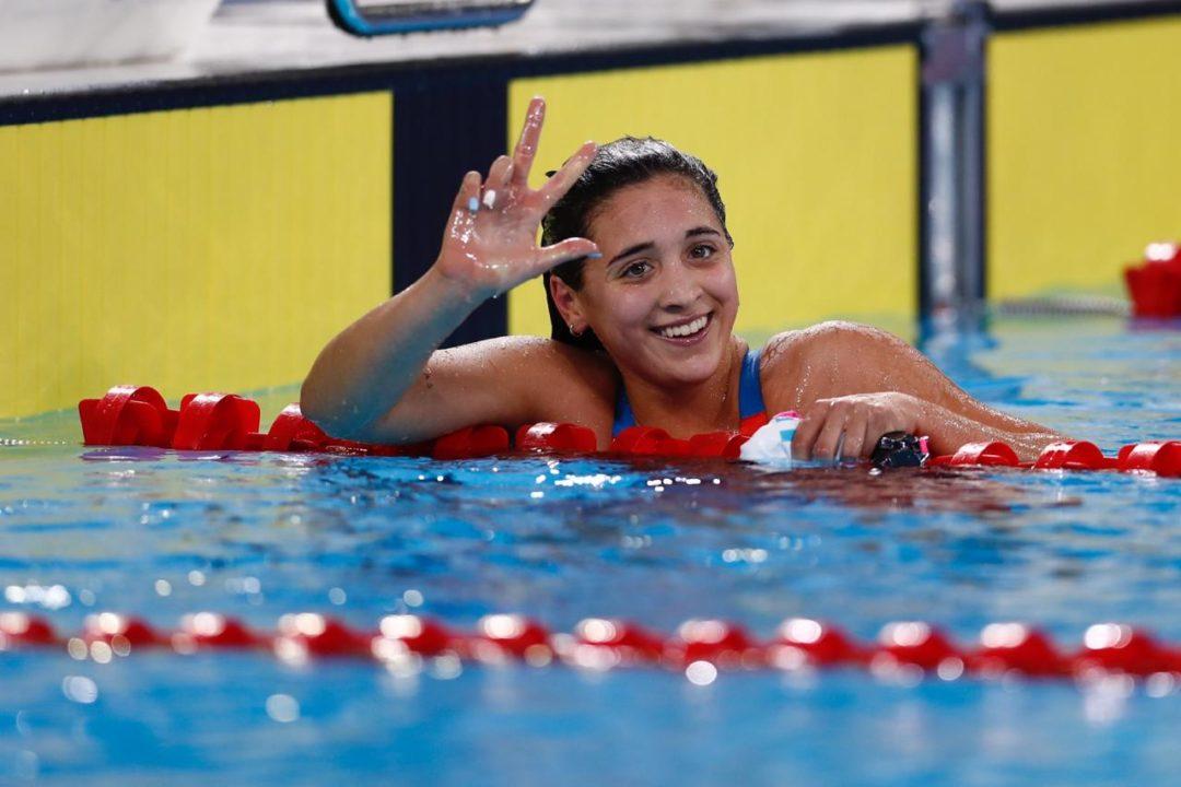 Delfina Pignatiello vuelve a competir a un año de su último torneo oficial