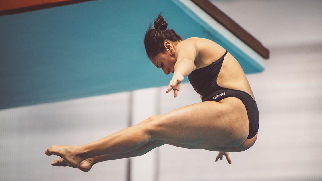 Longhorn Paola Pineda Wins Women's 3-meter Title at UT Diving Invitational