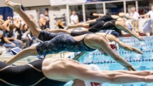 Wash. State's Larson Hits 22.70 50 FR, 1 of 5 Pool Records in Dual with Utah