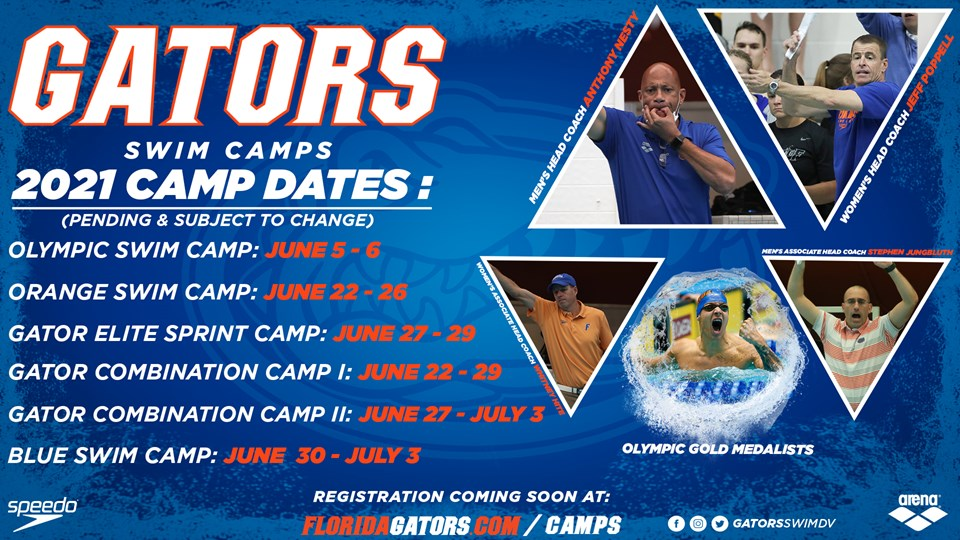 2021 Gator Swim Camps – Dates Are Live