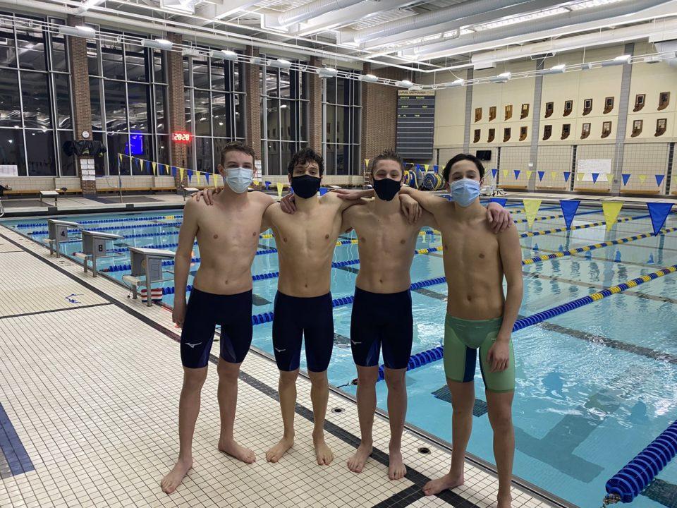 Carmel Swim Clubs Breaks NAG in Boys' 13-14 400 Medley Relay