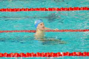 Hauck Claims All Comers Record For 17-Yr-Olds In 200 Back