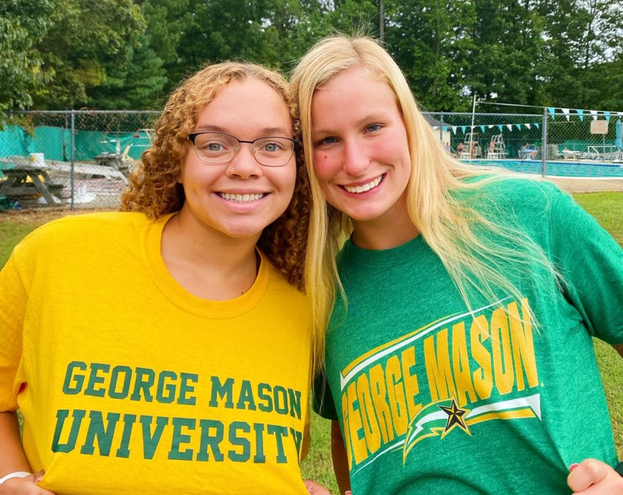 Quest Swimming Teammates Korina Davis and Kylie Thompson Commit to George Mason