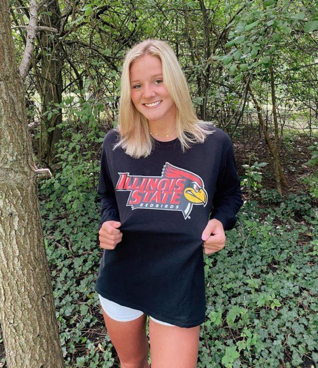Local Swimmer Lauren Wisdom Commits to Illinois State (2021)