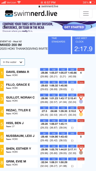Introducing Swimnerd Live Results