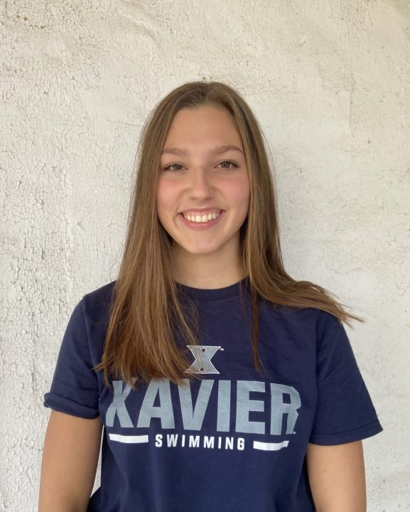 Xavier Snags Verbal from 2020 Swimming and Diving Class A Champ Alexis Worrall