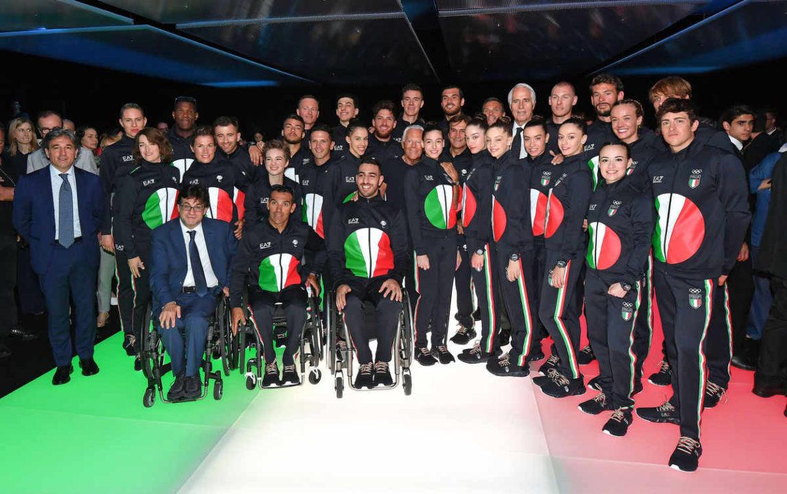 Il CONI Rinnova L'Accordo Con EA7 Per Le Divise Olimpiche Fino Al 2022