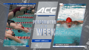 NC State's Knowles, Berkoff Sweep ACC Swimmer of the Week Honors