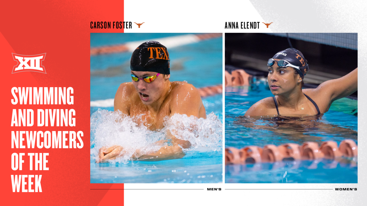 Longhorns' Foster, Elendt Named Big 12 Newcomers of the Week