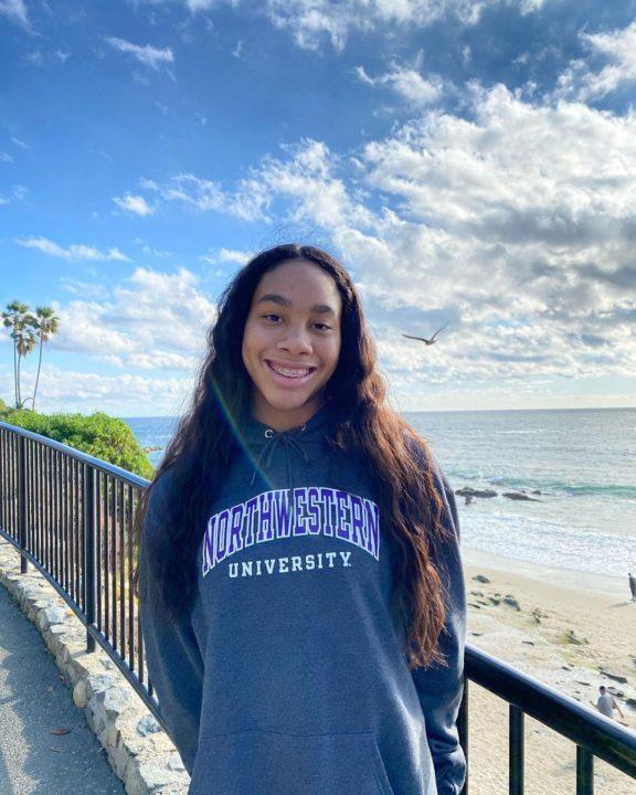 2019 CIF State Relay Champion Lindsay Ervin Verbals to Northwestern (2022)