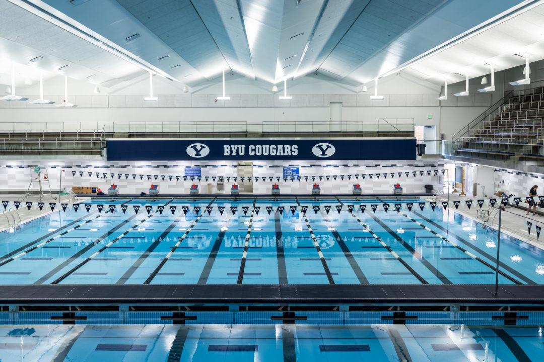 Josue Dominguez Swims 53.0 Breaststroke In BYU/Utah Time Trial Meet