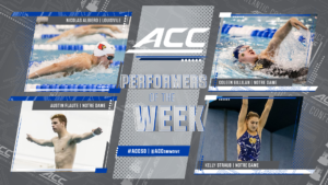Louisville's Albiero, Notre Dame's Gillilan Named ACC Swimmers of the Week