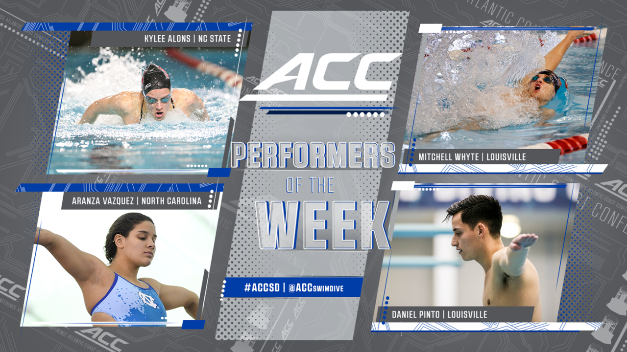 Kylee Alons, Mitchell Whyte Named ACC Swimmers of the Week