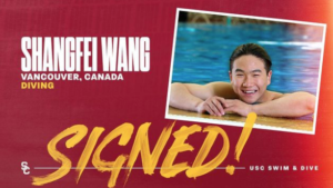 Standout Diver Shangfei Wang Commits To USC For Fall 2021